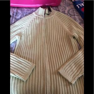 Brand new Talbots zip up sweater